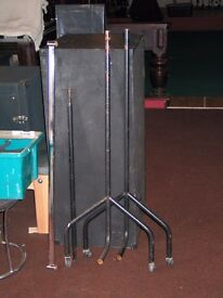 Wheeled Hanging Coat Rail