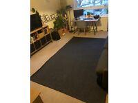 MORUM Ikea Rug flatwoven, in/outdoor, dark grey 160x230 cm