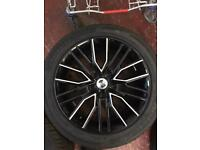 Vw transporter t5/t6 brand new wolf race vortex alloy wheels and tyres 5x120 18inch