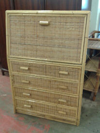 4 drawer wicker unit