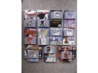 11 Games for Nintendo 64 - all with manuals - 2 with original boxes
