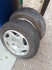 2 peugeot rims with tyres