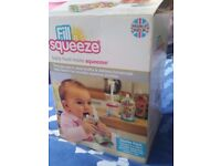 Brand New Fill n squeeze baby reusable food pouch maker