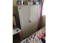 Children's white wardrobe