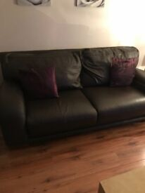 Leather 3 Seater ,2 Seater and chair