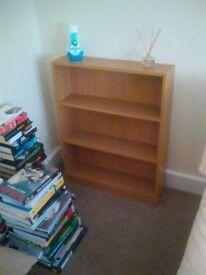 Oak effect wood bookshelf