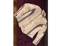 Joe Rocket Women's Jacket Small White + FREE ICON BIKER GLOVES