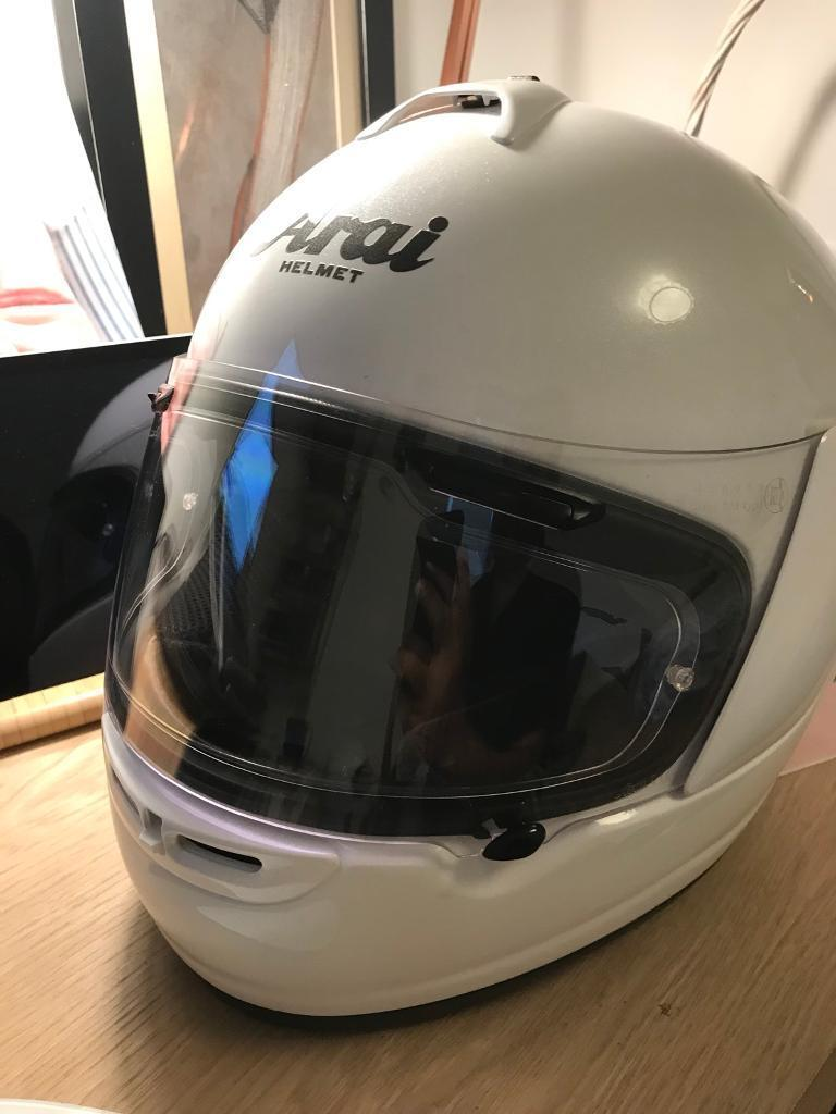 Arai axces-2 white frost helmet