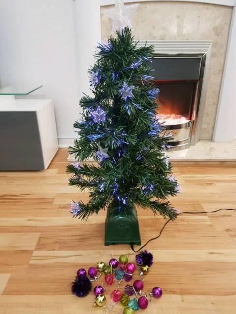 Fibre Optic Christmas Tree With Baubles.Small Fibre Optic Christmas Tree And Baubles In Balerno Edinburgh Gumtree