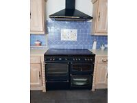 COOKER Dual Fuel Range Style Blue Gas Oven,Grill & Hob+ Fan Electric Oven Griddle & Plate warmer