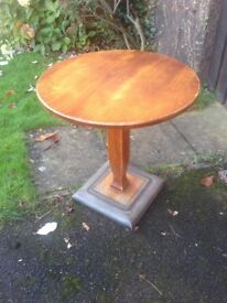 Solid wood Bistro table / pub table / side table