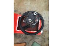 Hydraulic boat steering wheel