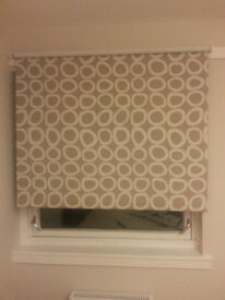 Roller Blind - beige and white