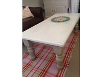 Coffee Table; shabby chic