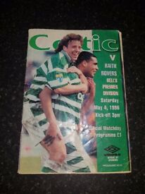 Celtic V Raith Rovers Official Matchday Programme. Saturday May 4, 1996.