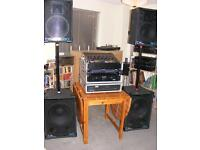 Full DJ equipment ideal for large venues great 'ready to DJ' equipment