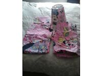 For sale Minnie mouse bedding, curtains and light shade £10ono