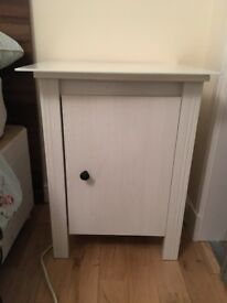 Ikea Bedside Table with Glass Top (removeable)