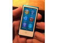 iPod nano blue 7th edition 16GB (excellent condition)