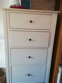 Laura Ashley cream tall chest of drawers