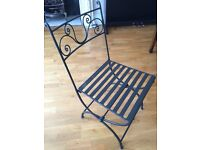 4 New garden chairs, Italian artisanal, elegant and stylish, good also for indoor, easy to fold