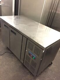 Commercial polar under counter bench freezer, catering freezer