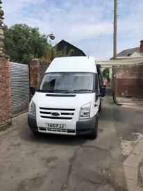 2010 FORD TRANSIT DAY VAN WITH AWNING, SEPARATE REAR STORAGE LWB 115 T350