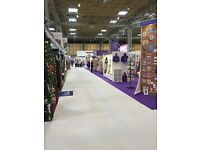 Events crew Birmingham arenas and Exhibitions. Ad hoc shifts days and nights