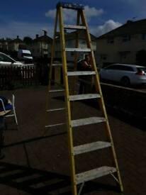 Electritians fibre glass step ladders 7 steps