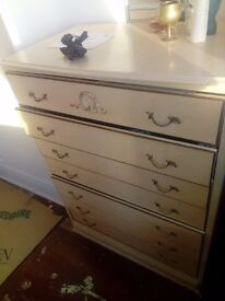 7 Chest of Drawers Shabby Chic Rare Design