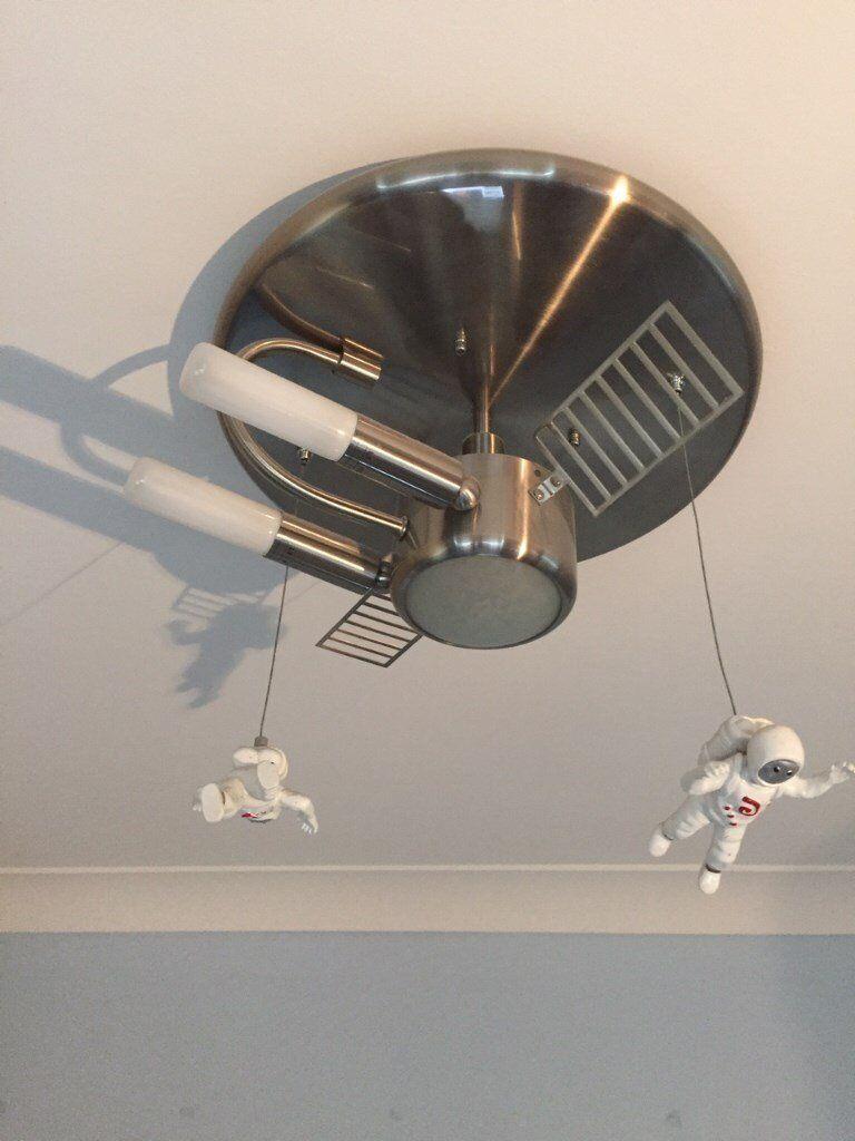 Childrens spaceman rocket spaceship ceiling light fitting in childrens spaceman rocket spaceship ceiling light fitting aloadofball Images