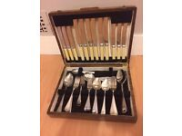 Cutlery Set in Wooden Storage Box - 100% goes to the British Heart Foundation