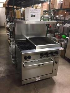 Vulcan 6 Burner Gas/Propane Range With Oven New - $1,849 - Convection Ovens - Fryers - Sandwich Tables - True or Trausle