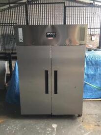 Commercial double door fridge for restaurant takeaway cafe shops pizza