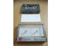 BASF SOUND LEVEL I 90 VINTAGE BLANK AUDIO CASSETTE TAPE CAN POST TO AN