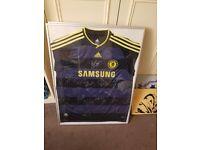 Signed framed Chelsea Shirt 2009-2010 season