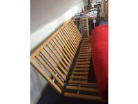 Futon with bed frame, under draw and mattress
