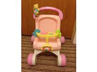 Baby walker/push along toy pram