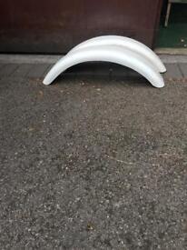Small mudguards to fit bike or small trailer, fibreglass