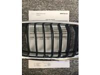 BMW - 3 Series F30 - Black Front Grills - Dealer Supplied
