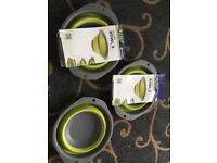 New camping outwell collapse bowls x3 collapsible portable