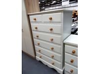 Large Seven Drawer Solid Pine Chest of Drawers…RF4792