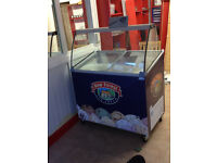 Ice Cream Freezer, Serve Over Display With Canopy