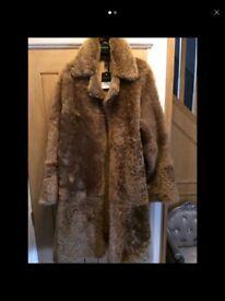 Topshop sheepskin coat brand new rep £895
