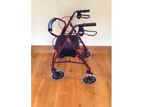 4 Wheeled Walking Aid (Rollator) Excellent Condition. Has had very little use.