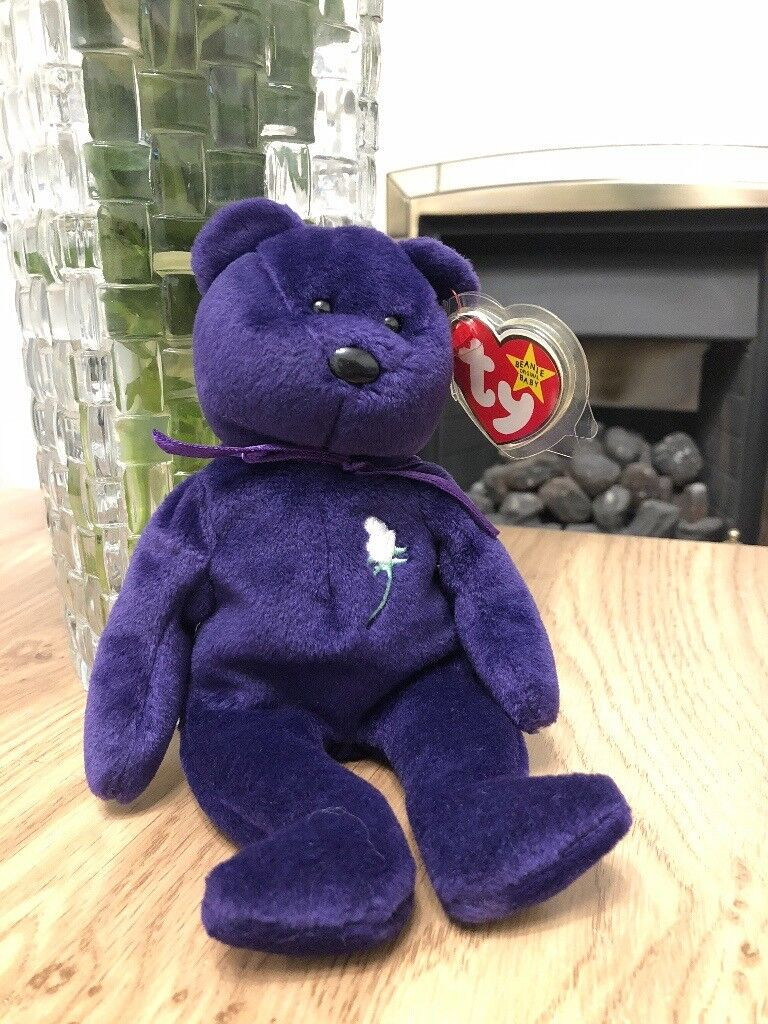 670e37b8082 Retired - Ty Princess Diana beanie baby with tag (no-space). Made in  Indonesia with P.E. Pellets