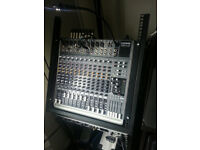 Mackie 1642 VLZ 3 Mixing desk / Mixer - Rack Mount rolling studio stand - Rack ears