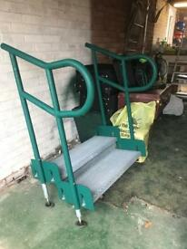 Outdoor metal stepsDisabled access or caravan steps