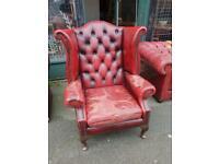 Chesterfield Wingback Armchair