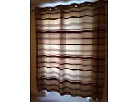 Curtains including pole and shade